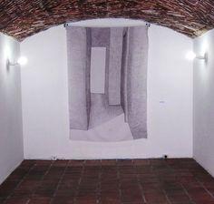 """AUSENCIA - grafite sb lençol. Exposição """"Invenção da Memoria""""  -  Vera Pamplona"""