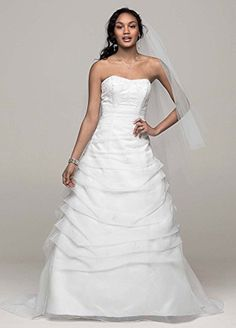 Wedding Dress Organza Draped Pick-up with Beaded Lace Empire White,  - Click image twice for more info - See a larger selection of bridal dress at http://zweddingsupply.com/product-category/bridal-dresses/ - women, bride, wedding, wedding style, wedding fashion - Click image twice for more info - See a larger selection of bridal dress at http://zweddingsupply.com/product-category/bridal-dresses/ - women, bride, wedding, wedding style, wedding fashion