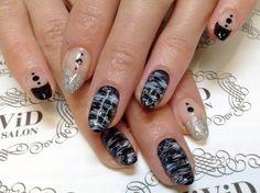 【No.0039】cool marble nails with monotone of white, black n silver ♪ 白,黒,シルバーのモノトーンカラーを使ってクールなマーブルに仕上げました♪#vividnailsalonsydney#calgel#sydney#nail#nails#nailart#art#nalisalon#gelnail#japanesenailart#ネイル#ネイルアート#ジェルネイル#カルジェル#美甲#指甲