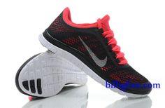 Billig Schuhe Damen Nike Free 3.0 V5 (Farbe:Vamp-schwarz,innen-rot;logo&Sohle-weiB) Online Laden.