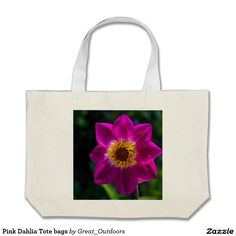 Pink Dahlia Tote bags
