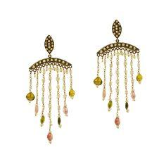 Gold K18 Diamonds & Tourmaline Diamonds, Chandelier, Ceiling Lights, Gold, Home Decor, Candelabra, Decoration Home, Room Decor, Chandeliers