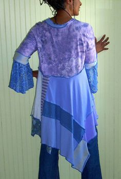 Cool Breeze Tunic Lilac Periwinkle and Gray Size par Brendaabdullah