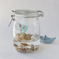 Urlaub im Glas / Holidays in a jar / Upcycling I wonder if glycerin, instead of … - Gift Jar Diy Home Crafts, Jar Crafts, Cool Diy, Easy Diy, Diy Para A Casa, Diy For Kids, Crafts For Kids, Spray Paint Colors, Diy Gifts For Girlfriend