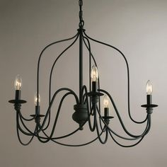 Rustic Wire Chandelier | World Market $169.99