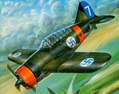 Brewster B-239 Finland by Stan Hajek