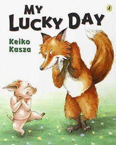 My Lucky Day by Keiko Kasza http://www.amazon.com/dp/014240456X/ref=cm_sw_r_pi_dp_Z3u6vb1MD34WE