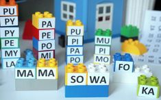 nauka czytania, czytanie sylabowe, zabawy z klockami, kreatywne zabawy Maila, Lego, Language, Activities, Education, Games, Learning, Fun, Kids