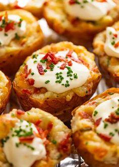 Stuffed Baked Potatoes, Twice Baked Potatoes, Bacon Potato, Potato Sides, Vegetable Side Dishes, Vegetable Recipes, Jacket Potato Recipe, Potato Nutrition, Dried Potatoes