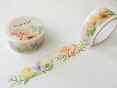 Orange Angels Trumpet Flower Washi Tape by GoatGirlMH on Etsy