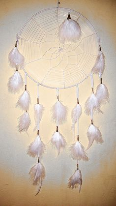 large white dream catcher by Owlie!, via Flickr