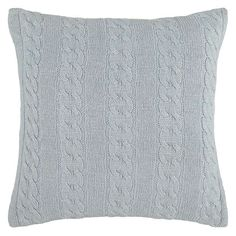 John Lewis Croft Collection Cashmere Blend Cable Knit Cushion, Slate at John Lewis Knitted Cushions, Art And Craft Design, Bedroom Decor, Master Bedroom, John Lewis, Cable Knit, Slate, Wool Blend, Cashmere