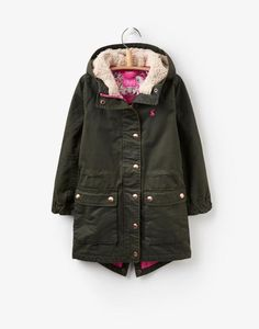 Joules Warm Welcome Collection - The T Wynter Parka-Style Coat