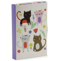 10 cats notecards mini