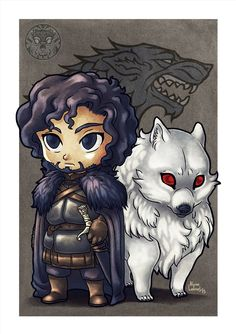 John Snow and Ghost by filhotedeleao on DeviantArt John Snow and Ghost by filhotedeleao on DeviantArt<br> Game Of Thrones Drawings, Game Of Thrones Artwork, Jon Schnee, Character Art, Character Design, Dibujos Anime Chibi, Game Of Thones, Got Dragons, John Snow