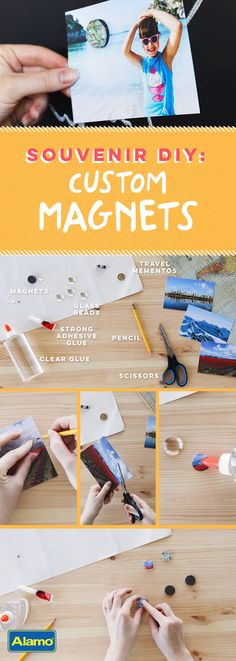 These aren't just magnets – they're memories! Replace those random magnets on your refrigerator door with ones that remind you of the wonder-filled family vacations you've taken. This fun DIY craft is easy enough for the whole family to make, no matter their crafting skill level.