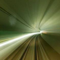 A long exposure picture taken from a train driving through the Gotthard Base Tunnel during a media visit near the town of Sedrun Switzerland  August 24 2015. Travelling through the Alps the world's longest and deepest train tunnel should become operational by the end of 2016. The project consists of two parallel single track tunnels lines 57kms in length. Credit: Reuters/Arnd Wiegmann #tunnel #GBT #Alps by theeconomist