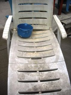 how to clean chalky plastic lawn chairs pinterest lawn yards