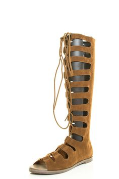 Breckelles Womens Open Toe Gladiator Cage Strappy Lace Up Mid Calf Knee High Boot Sandal >>> Hurry! Check out this great product : Lace up sandals