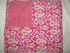 Check out this item in my Etsy shop https://www.etsy.com/listing/189059984/queen-ikat-bedspread-kantha-quilt-queen