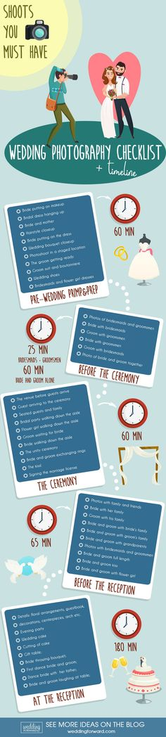 Wedding Photo Infographics To Make Your Wedding Photos Amazing ❤ See more: http://www.weddingforward.com/wedding-photo-infographics/ #weddings