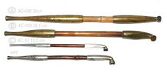 japanese kiseru pipes | Kiseru, Japanese antique tobacco pipe and weapon, 1850's. Japanese ...