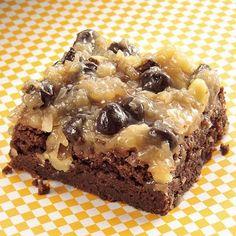 Rich German Chocolate Brownies