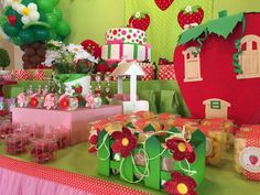 Strawberry Shortcake birthday party! See more party ideas at CatchMyParty.com!