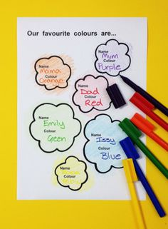 Make a poster of your favourite colours. For full Activity Time sheet visit thelittlebigbookclub.com.au