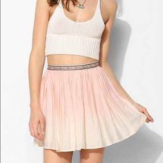 Ecoté Dip-Dye Ombré Mini Skirt Lightly worn. Urban Outfitters Skirts Mini