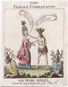 The female combatants, or Who Shall, Jan 1776, Lewis Walpole Library Digital Collection,