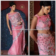 Beautiful Pink Wedding Dresses | Beautiful Pink Lehnga Choli - Indian Wedding Bridal Silver Embroidery ...