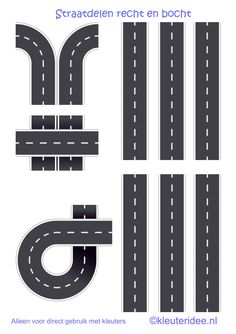 Transportation Week , road for preschool, free printable. Diy For Kids, Crafts For Kids, Transportation Unit, Block Center, Block Play, Busy Book, Dramatic Play, Paper Toys, Diy Toys