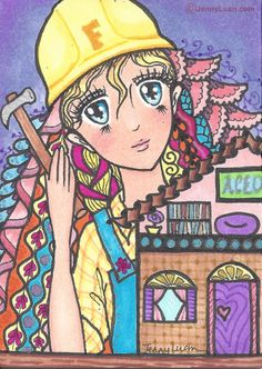 """Lady Builder"" by Jenny Luan"