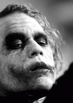 Heath Ledger as The Joker - The Dark Knight.gonna pull off the joker for Halloween Der Joker, Joker Art, Joker And Harley Quinn, Joker Comic, Joker Pics, Heath Ledger Joker, Jocker Batman, Gotham City, The Dark Knight Trilogy