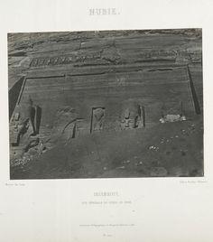 Nubie. Ibsamboul, vue générale du spéos de phrè.