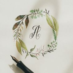 calligrafikas: This is going to be the the start of the series I'm going to make for the next few weeks. Combination of watercolor & al...