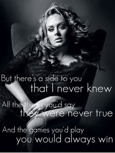 Adele - Set Fire To The Rain Quote, fakers & heart breakers psychology