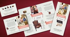 Antique Mall Brochures, Flyers and Posters by @StockLayouts #design #marketing #smallbiz #smallbusiness