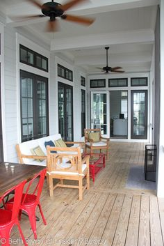 Watercolor House Tour. Adore the screened in back porch and transom windows.