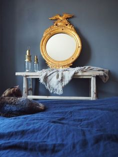 Blog | Pure & Original Bedroom - grey Bedroom Paint Colors, Gray Bedroom, Paint Colours, Painting Inspiration, Pure Products, Mirror, The Originals, Grey, Health