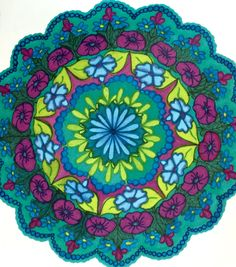 Another mandala piece with marker  Lynne Rainer