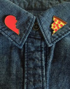 Yes Pizza Pin Set by OccasionalGrownup on Etsy