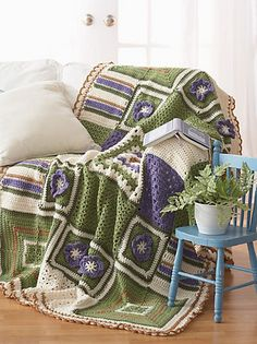 Ravelry: 2010 Mystery Afghan Crochet-Along pattern by Bernat Design Studio