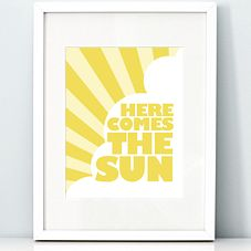 Salt & Paper - printable stationery & art - Here Comes the Sun - 8x10 art