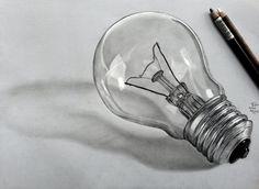 bulb pencil drawing drawings realistic deviantart sketch sketches draw ligh google still object charcoal easy fine random tekeningen afkomstig