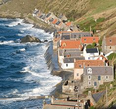 Crovie. Pushed to the sea by the Highland Clearances, crofters built cottages here and turned to fishing to support themselves.