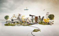 CREATIVE MINI-WORLD by Jan Reeh, via Behance