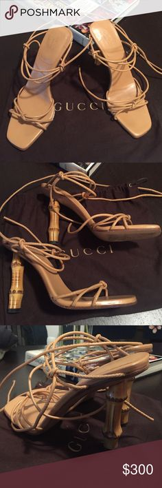 Gucci Bamboo Heel Authentic Gucci Heels,100% Leather,In Good Condition,Wore Twice,$998 Retail Gucci Shoes Heels