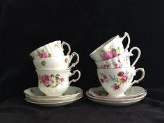 A personal favorite from my Etsy shop https://www.etsy.com/ca/listing/481025653/vintage-pink-teacups-rose-pink-china